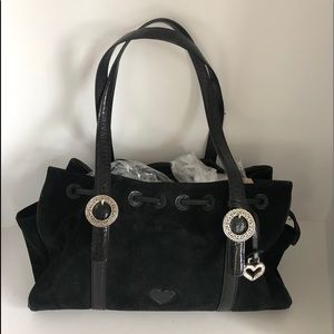 BRIGHTON Cinclaire Suede and Leather Double handle